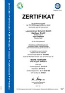 TÜV Zertifikat Laserzentrum Schorcht